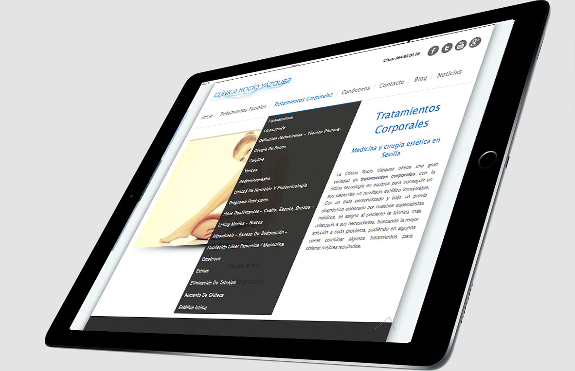 Website corporativo de Rocío Vázquez. GyG
