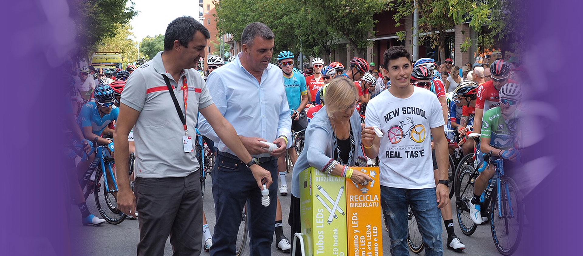 """Marc Márquez """"el reciclador de lámparas más rápido"""""""